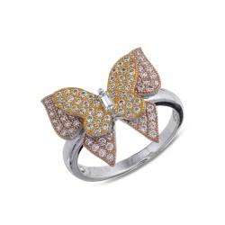 anillo mariposa plata 0.925
