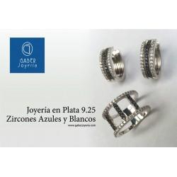 JUEGO PLATA RODINADA 9.25 Y CIRCONES
